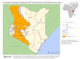 2007 World Map by Who Kenya Maps
