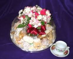 Pastry Gift Baskets Italian Pastry Cookie Tray W Flowers Gift Basket In East Haven Ct
