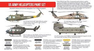 us army helicopters paint set hataka