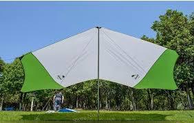 Beach Awning Hexagonal Sun Shelter With Poles Waterproof Awning Canopy Beach