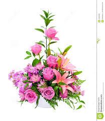 colorful purple flower arrangement centerpiece royalty free stock