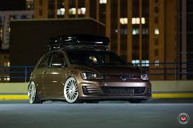 volkswagen brown toffee brown golf gti gets a new set of lip concept vossen wheels