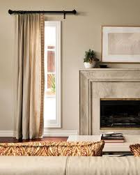 Curtain Rods Either Side Window Living Room Either Side Of Fireplace Single Pleat Drapery 15302