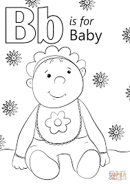 letter baby coloring free printable coloring pages