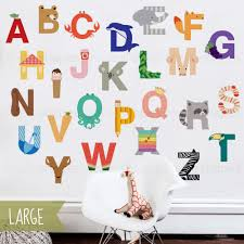 Alphabet Wall Decals For Nursery by Alphabet Wall Sticker Peel And Stick Repositionable Fabric Stickers