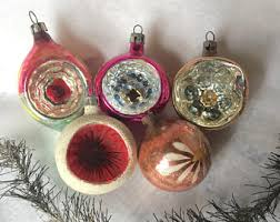 vintage glass ornaments etsy