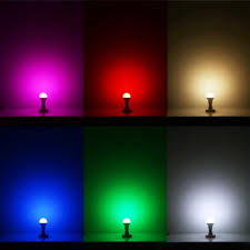 le 5w dimmable a60 rgb led bulbs color changing 160 beam angle
