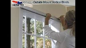 Installing Window Blinds Outside Mount How To Install Outside Mount Vertical Window Blinds Decor How