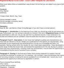Sample Nursing Cover Letter For Resume by Nurse Cover Letter Resume Cover Letter In Cover Letter For Rn My