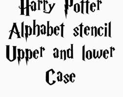 harry potter stencil font full alphabet upper and lower case