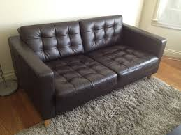 ikea leather loveseat ikea karlstad leather sofa home design ideas and pictures