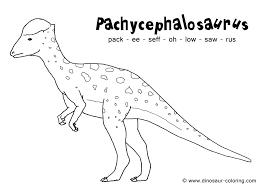 pachycephalosaurus coloring