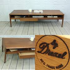 round mid century modern coffee table coffee table drexel parallel 60 long coffee table with drawer by
