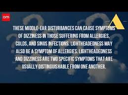 can sinus infection cause dizziness light headed can allergies cause headaches and dizziness youtube