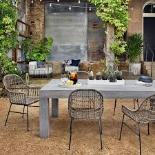 modern outdoor dining table modern teak outdoor dining table west elm