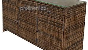 black 3 drawers wicker rattan buffet serving cabinet table towel