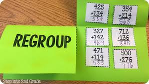 triple digit addition with regrouping step into 2nd grade