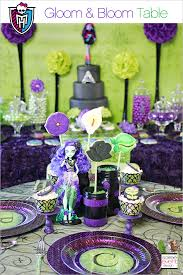 monster high table and chair set monster high party gloom bloom featuring amanita nightshade