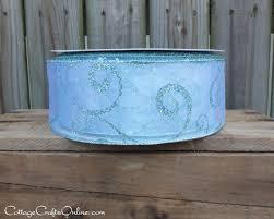 wide christmas ribbon wired christmas ribbon 2 1 2 wide blue sheer glitter swirl