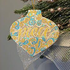 lettered embellishments a ornament
