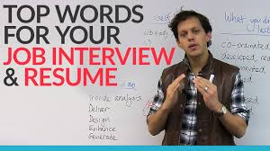 What Are Good Words To Describe Yourself Top Words For Your Job Interview U0026 Resume Youtube