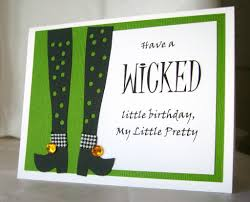 Halloween Birthday Ecards Wicked Birthday Card Halloween Birthday Card Handmade My