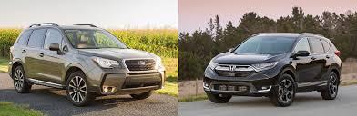 subaru forester vs honda crv 2017 subaru forester vs 2017 honda cr v comparison