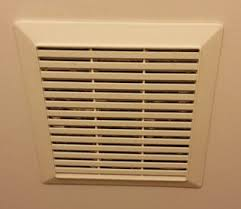 Bathroom Fan Cover Bathroom Is It Normal For An Exhaust Fan Cover To Hang Below The