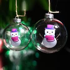 ornament wedding glass bauble snowman