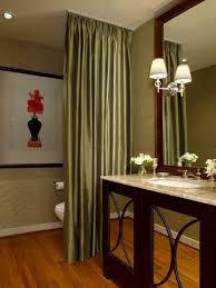 Small Bathroom Curtain Ideas Colors Half Bathrooms Curtain Divider Powder Room And Room