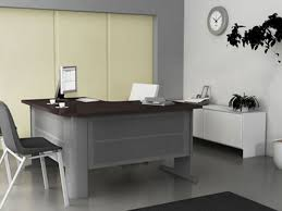 Grey Office Desk Office Furniture Desk Frames Aluminum Glass Cabinet Doors