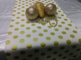 gold table runner and placemats gold dot table runner or napkins or placemats centerpiece rounds