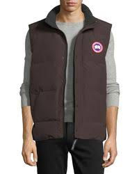 canada goose lodge hoody navy mens p 31 shop s canada goose waistcoats and gilets from 242 lyst