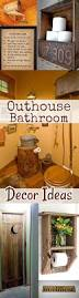 Log Cabin Bathroom Accessories by Best 25 Outhouse Bathroom Decor Ideas On Pinterest Country