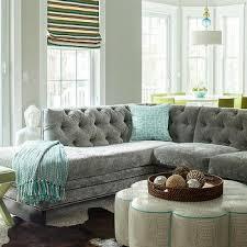 Gray Sofa Living Room Ideas Gray Velvet Sectional Sofa Design Ideas