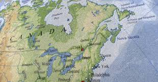 map of canada and usa canada usa map plastic texture stock photo fmua09 1987296