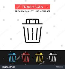 vector trash can icon dustbin recycle stock vector 519279229