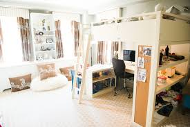loft bed in front of window design ideas