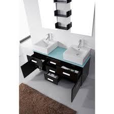 52 Bathroom Vanity Cabinet by Abodo 55 Inch Double Sink Bathroom Vanity Set