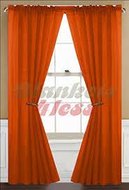 Orange Kitchen Curtains Sale Amazon Com Orange Sheer Curtain 2 Panels Rod Pocket 57