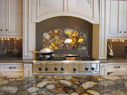 amusing brown color natural stone kitchen backsplashes featuring