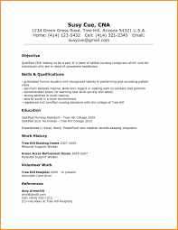 Sample Resume Cook Objectives by Skills For A Cna Resume Resume For Your Job Application