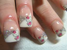 picture 9 of 10 hello kitty nail arts design photo gallery