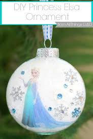 diy princess elsa ornament all things g d