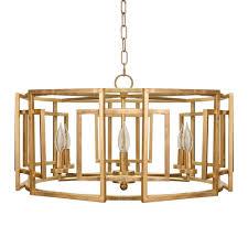 worlds away square motif drum chandelier with 6 arm light in gold worlds away mckenzie chandelier gold