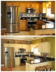 Painted Kitchen Cabinets Before After How To Make A Pickled Or White Wash Finish Diy Painting