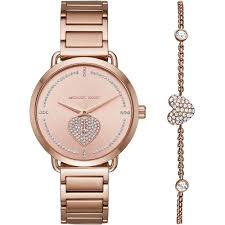 ladies rose gold bracelet watches images Ladies portia rose gold stone set bracelet watch bracelet gift jpg
