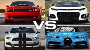 mustang vs challenger vs camaro dodge challenger srt vs chevrolet camaro zl1 vs ford mustang