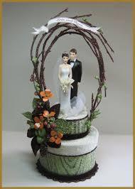 woodland cake toppers wedding minish designs