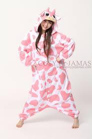 animal onesies pink cow onesie kigurumi pajamas